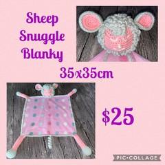 Crocheted snuggle blankies, amigurumi, animal comforter, baby/children, handmade