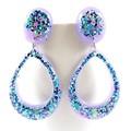 Blue & purple glitter collection - teardrop