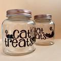 Cat Treat Jars - Rose Gold