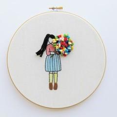 DIY Kit Flower Girl (with a choice of hair colour)