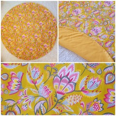 Floral baby playmat