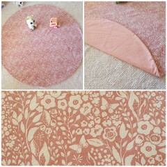 Pink floral baby playmat