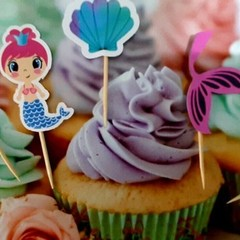 Cake toppers, Mermaid, Cupcakes, party Food, Fruit Picks, Donuts