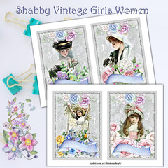 Shabby Vintage Girls Women AfreshDesignPB