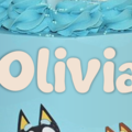 Bluey Personalized Name Edible Icing Cake Topper
