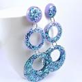 Blue & purple glitter collection - triple circle