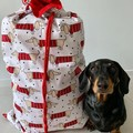 Jumbo sausage dog reversible cotton drawstring laundry bag/storage bag