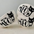 Meow Cat Food/Water Bowls