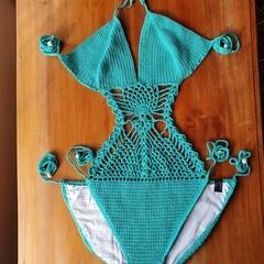 Crochet one piece swim suit