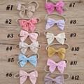 Linen bow headbands