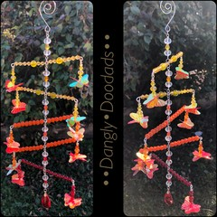 Rainbow-Ice-Fire Butterfly Ladder Suncatchers (3x available)
