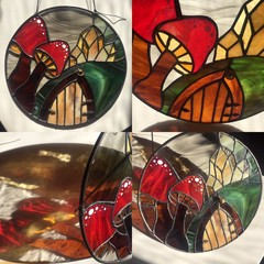 Stained glass Fairy Forest House