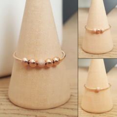 9k solid rose gold anxiety ring, Minimalist rose gold worry ring
