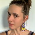 Electric Handwoven Earrings