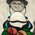Stained glass Frida Kahlo Portrait