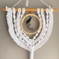 Crescent Moon and Bamboo Wall Hanging