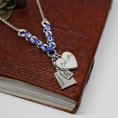 Alice in Wonderland Chainmaille Charm Necklace