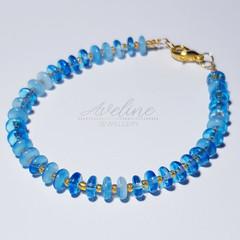 Blue/Gold Beaded Bracelet