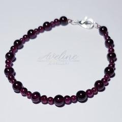 Raspberry Beaded Bracelet