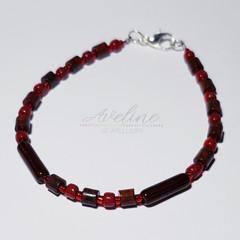 Dark Red Beaded Bracelet