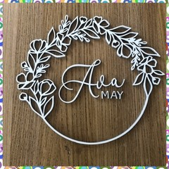 Name Sign floral frame with two names
