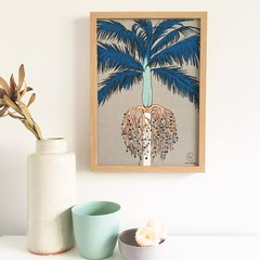 Palm Tree  Linen Print