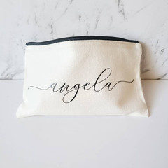 Personalised makeup pouch Case 100% cotton pencil case multipurpose pouches for