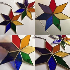Stained Glass Rainbow stars