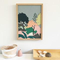 Floral Linen Print