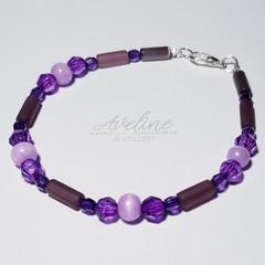 Purple/Pink Beaded Bracelet