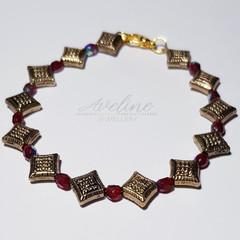 Red/Gold Beaded Bracelet