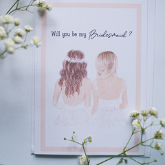 Will you be my Bridesmaid Card for bridesmaid proposal, Optional Customisation -