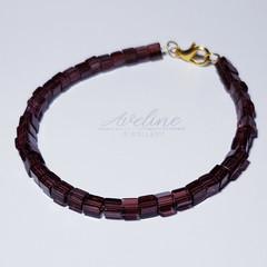 Wine Beaded Bracelet
