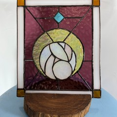 Moon Goddess Birth Stained Glass Panel