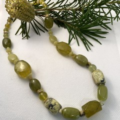 Lime Jade Necklace