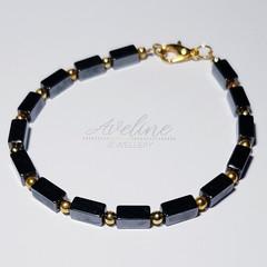 Black/Gold Beaded Bracelet
