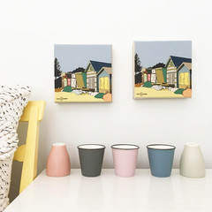 Beach Hut Mini Canvas