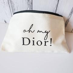 Designer Oh my makeup case bag 100% cotton pencil case
