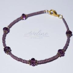 Pale Purple Beaded Bracelet