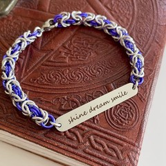 BTS Mikrokosmos Lyric Chainmaille Charm Bracelet