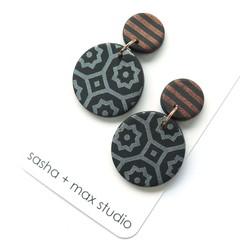 Winter metallics Statement Earrings - Moroccan disc