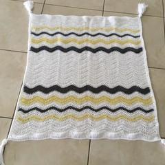 Crochet Baby Blanket, knee rug, throw rug, handmade