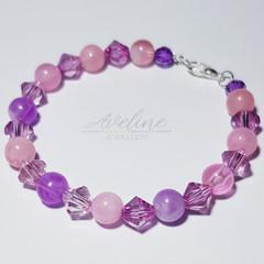 Pink/Purple Beaded Bracelet