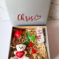 Valentines Hamper personalised gift hamper set for him, for girlfriend boyfriend