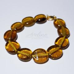 Dark Yellow Beaded Bracelet