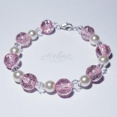 Pale Pink/Pearl Beaded Bracelet