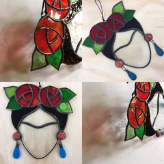 Stained glass Frida Kahlo small