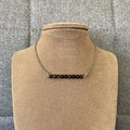 Obsidian Bead Bar Necklace
