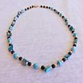 Blue & Black Sea Shell Necklace