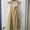 Vintage Look Apron - Cottagecore Floral Pattern Handmade Apron
